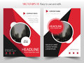 Red black circle Vector Brochure annual report Leaflet Flyer template design, book cover layout design, abstract presentation Royalty Free Stock Photo