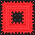 Red, black colors handmade tile. Royalty Free Stock Photo