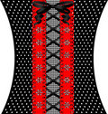 Red-black coquettish lace Stock Photos