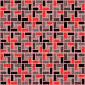 Red pink brick spiral tile clockwise texture seamless pattern Royalty Free Stock Photo