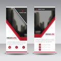 Red black roll up business brochure flyer banner design , cover presentation abstract geometric background, modern publication