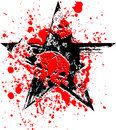 Red Black Star Skull Royalty Free Stock Photos
