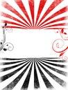 Red black swirls copyspace background Royalty Free Stock Photo