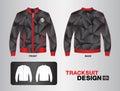 Red and black tracksuit design vector illustration jacket design uniform polygon background Stock Photography