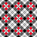 Red Black White Diagonal Royalty Free Stock Photo
