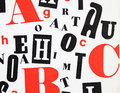Red black white - letters mixture Royalty Free Stock Photo