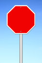 Red blank sign Royalty Free Stock Photo