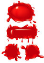 Red Blob set Stock Photography