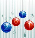 Red and blue balls Royalty Free Stock Images