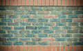 Red blue brick wall as texture or background. . Royalty Free Stock Photo