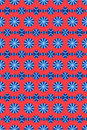 Red and blue circle pattern Royalty Free Stock Photo