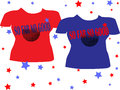 Red blue couple t shirt Royalty Free Stock Photo