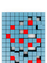 Red and blue cubes Royalty Free Stock Photography