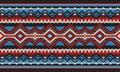 Red And Blue Detailed Traditional Folk Sadu Arabian Hand Weaving