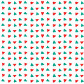 Red and blue diagonal heart pattern Royalty Free Stock Photography