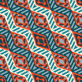 Red and blue diagonal stripped african geometric pattern abstract ethno pattern for wallpapers covers web page backgrounds vector Royalty Free Stock Image