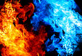 Red and blue fire Royalty Free Stock Photo