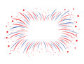 Red and blue firework Royalty Free Stock Photo
