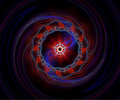 Red And Blue Fractal Spiral Royalty Free Stock Images