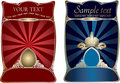 Red And Blue Gold Covers. Stock Photo