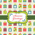 Red blue and green christmas wrapping Stock Photos