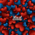 Red And Blue Heart. Valentines...