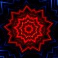 Red blue light burst flash. Hot glowing rays. Laser show effect. Made many stars. Shiny xmas sparkle. Fantasy style cover. Decor. Royalty Free Stock Photo