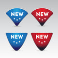 Red blue New button Royalty Free Stock Photo