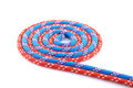 Red blue rope spiral Stock Photo