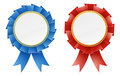 Red and blue rosettes Stock Photography
