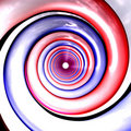 Red and blue spirals perspecti Stock Images