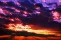 Red blue sunset Stock Photos
