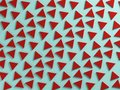 Red and bue triangular textured background