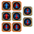 Red and blue web buttons Royalty Free Stock Photo