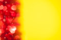 Red bokeh on yellow background Royalty Free Stock Photography