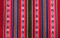 Red bolivian pattern Royalty Free Stock Photo