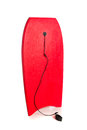Red boogie board on white Royalty Free Stock Image