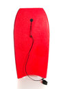 Red boogie board on a white background Royalty Free Stock Photos