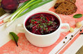 Red borscht soup Royalty Free Stock Photo