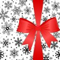 Red bow on a Christmas background. eps10 Royalty Free Stock Image