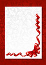 Red bow with greeting card Stock Photography