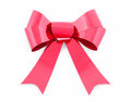 Red bow isolated on white Stock Photo