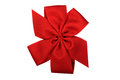Red Bow Isolated on White Royalty Free Stock Photo