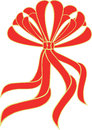 A red bow / ribbon Stock Photography