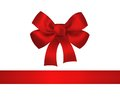Red bow and ribbon isolated on white background closeup llustration Royalty Free Stock Images