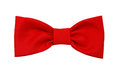 Red bow tie on the white Royalty Free Stock Photos