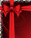 Red Bow. Vertical composition. Royalty Free Stock Photography