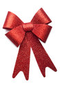 Red bow on white background Stock Photos
