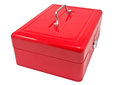 Red box metallic on a white background Stock Photo