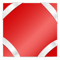 Red box with white ribbon Royalty Free Stock Photo